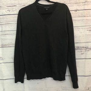 Banana Republic Black Silk Blend V-Neck Sweater